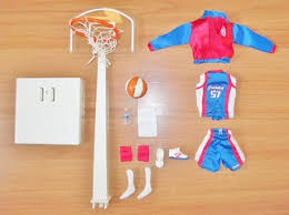 Outfit and accessories for a basketball game