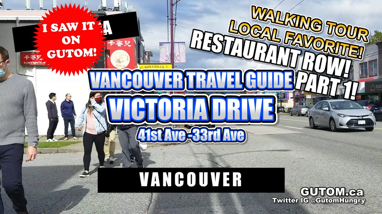 BEST FOODIE STREET! WALKING TOUR VICTORIA DRIVE #WALKAROUND | VANCOUVER FOOD AND TRAVEL GUIDE